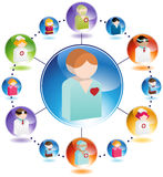 Patient Care royalty free illustration