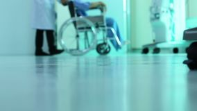 Patient care of a doctor in a hospital stock footage