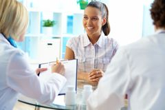 Patient in clinic Royalty Free Stock Photo