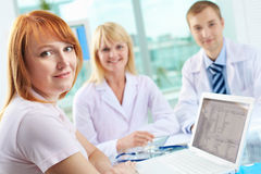 Patient in clinic Royalty Free Stock Images