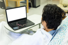 Patient and computer Royalty Free Stock Photo