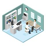 Patient dans médecins Office Vector Illustration illustration libre de droits