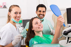 Patient in the dental clinic Royalty Free Stock Photos