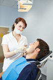Patient at dental examination Royalty Free Stock Image