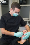 Patient at the dental practice Royalty Free Stock Photography