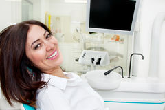 Patient at dentist Royalty Free Stock Image