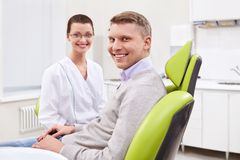 The patient at the dentist Stock Photography