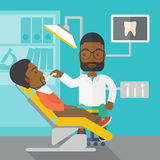 Patient and dentist Royalty Free Stock Images