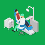 Patient and Dentist Doctor Appointment Isometric View. Vector Stock Photography