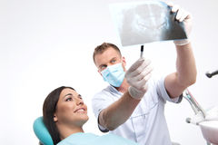 Patient at dentist office. Royalty Free Stock Photo