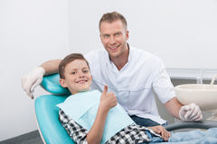 Patient at dentist office. Royalty Free Stock Images