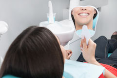 Patient at dentist office. Stock Image