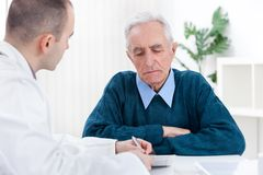 Patient at doctor�s office Stock Photos
