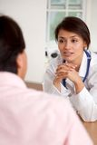 Patient at the doctor Royalty Free Stock Image