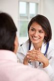 Patient at the doctor Stock Photography