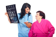 Patient and doctor with good results of MRI scans Stock Photo