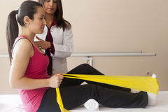 Patient doing some special exercises royalty free stock image