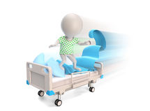 Patient driving on madical bed Stock Photography