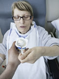 Patient eating Royalty Free Stock Photography