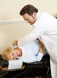 Patient Enjoys Chiropractic Care Royalty Free Stock Photography