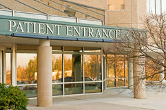 Hospital patient entrance  Royalty Free Stock Photography