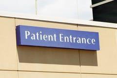 Patient Entrance Stock Photo