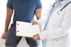 Patient et docteur Images libres de droits
