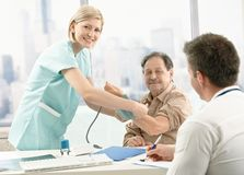 Patient at examination in doctor's office Stock Image