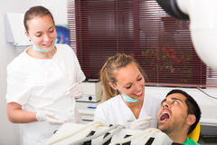Patient is examined at dental clinic Royalty Free Stock Photography