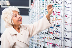 Patient with eye defect Stock Images