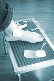 Patient foot ankle leg physiotherapy treatment Stock Image