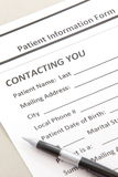 Patient Form Royalty Free Stock Images