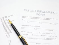 Patient Form Royalty Free Stock Photos