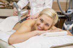 Patient getting a massage Royalty Free Stock Photography