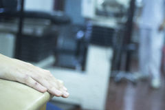 Patient hand in physical therapy physiotherapy Stock Images