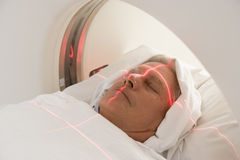 Patient Having A CAT Scan Stock Images
