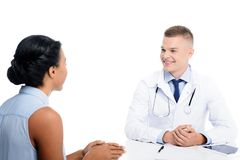 african american female patient having consultation with doctor royalty free stock photography