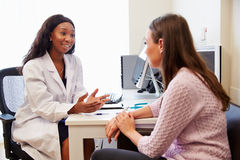 Patient Having Consultation With Female Doctor In Office Royalty Free Stock Photos