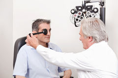Patient Having his Eyesight Tested Royalty Free Stock Photos