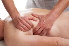 Patient  having massage Stock Photo