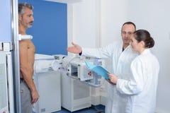 Patient having x-ray examination Stock Image