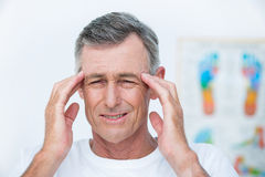 Patient with headache Stock Images