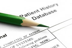 Patient history Stock Image