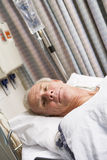 Patient In Hospital Bed royalty free stock photography
