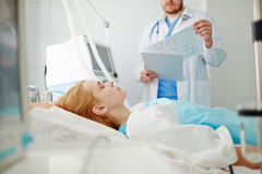 Patient at hospital Stock Images