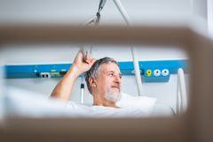 Patient in hospital room Royalty Free Stock Images
