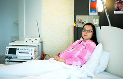 Patient in the hospital ward. A photo of a patient woman in the hospital ward Royalty Free Stock Photography