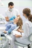 Patient i tandläkekonst Royaltyfria Bilder