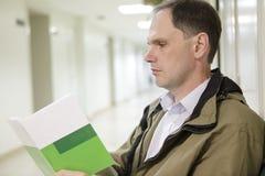 Patient im Polyclinic Stockfoto