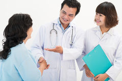 Patient introducing Royalty Free Stock Photo
